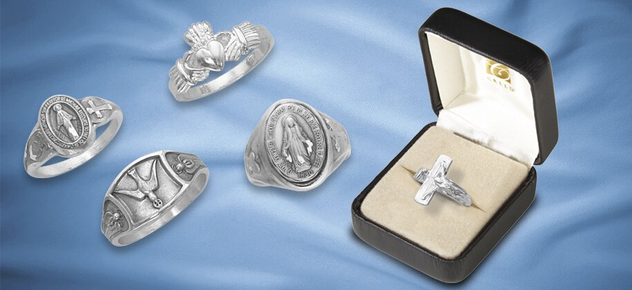 Catholic jewelry rings