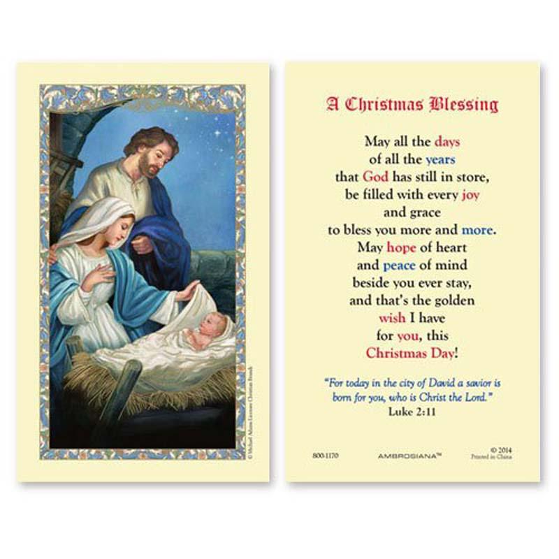 Nativity Laminated Holy Card 25 Pk
