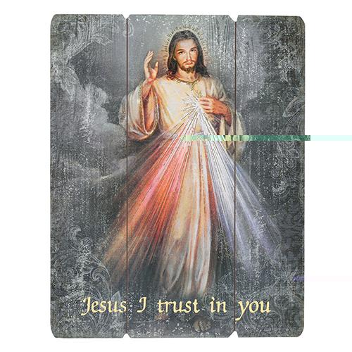 Wood Pallet Sign - Divine Mercy